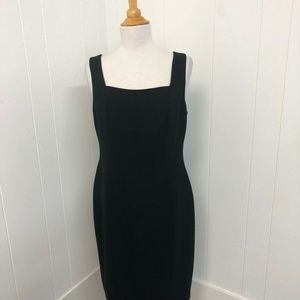 Joseph Ribkoff Black Sheath Lined Dress Women's 10